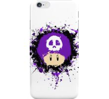 Abstract Super Mario Poison (purple) Mushroom iPhone Case/Skin