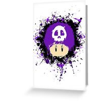 Abstract Super Mario Poison (purple) Mushroom Greeting Card