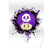 Abstract Super Mario Poison (purple) Mushroom Poster