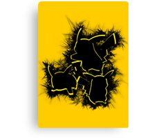 Electrifying Pikachu Canvas Print