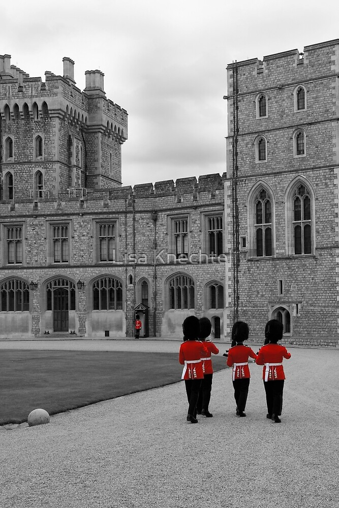 Changing of the Guard at Windsor Castle by Lisa Knechtel