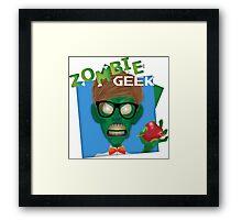Zombie Geek Framed Print