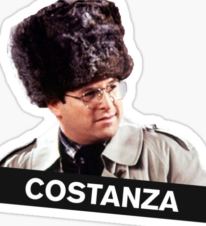 Costanza's Russian Hat Sticker