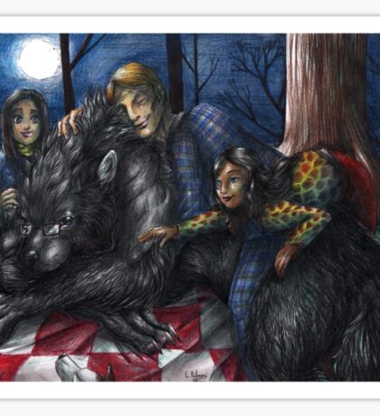 Hannibal - Picnic with the werewolf Sticker