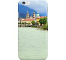 Innsbruck and Inn river, Tyrol, Austria iPhone Case/Skin