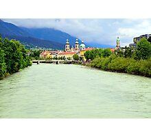 Innsbruck and Inn river, Tyrol, Austria Photographic Print