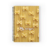 My Recipes - pasta Spiral Notebook