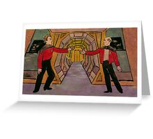 Q and Picard Greeting Card