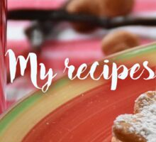 My Recipes - jam & jelly Sticker