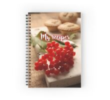 My Recipes - pie Spiral Notebook