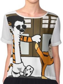 Calvin And Hobbes : Kungfu Master Chiffon Top