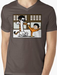 Calvin And Hobbes : Kungfu Master Mens V-Neck T-Shirt