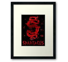 Spartacus - Red Serpent V2 Framed Print