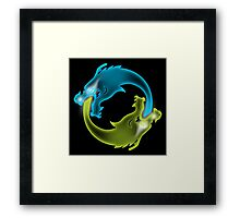 Two Dragons, two Brothers Framed Print