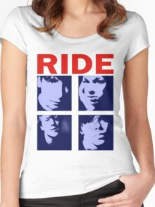 RIDE - RIDE UK BAND SHOEGAZER- Women's Fitted Scoop T-Shirt