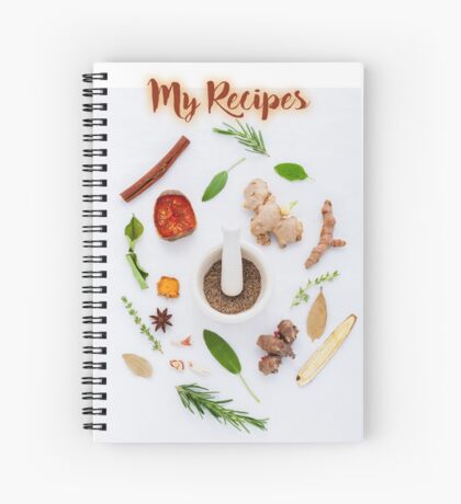 My Recipes - spice Spiral Notebook