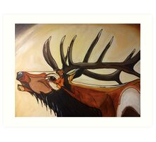 """Mr.T"" - Elk Painting Art Print"