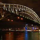 Sydney Harbour Bridge - Vivid Festival 2012 by Richard Cassar