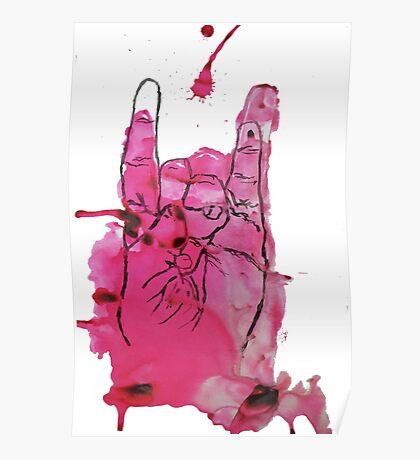 Devil's Fingers Rock Print Poster