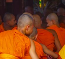 Novice monks in class, Chang Mai, Thailand Sticker