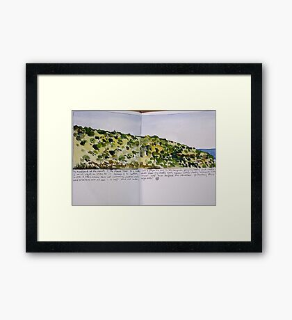 the headland: moore river Framed Print