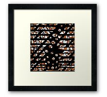 Brown abstraction Framed Print