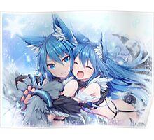 Fox Ears Poster