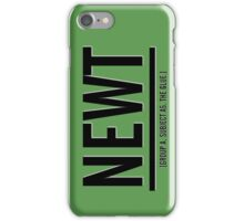 Newt iPhone Case/Skin