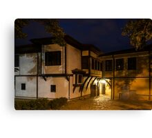 Brightly Lit Bar - a Late Night Invitation to an Exquisite Revival House  Canvas Print