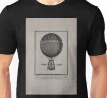 0207 ballooning Globo aerostatico di diametro pal 40 Romani inalzato in Roma dal Sigr Vincenzo Lunardi nell Anfiteatro Correa il di 8 luglio 1788 Unisex T-Shirt
