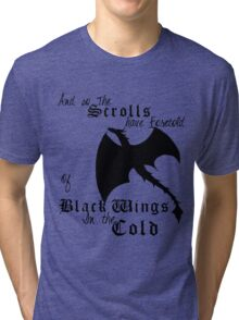 Black Wings In The Cold Tri-blend T-Shirt