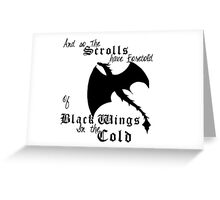Black Wings In The Cold Greeting Card