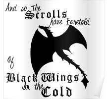 Black Wings In The Cold Poster