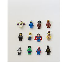 Lego Minifigure Photo Art- kids room  Photographic Print