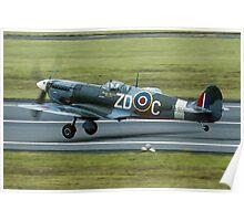 "Supermarine Spitfire Vb AB910/ZD-C G-AISU ""President Roosevelt"" Poster"