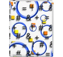 So Many Questions w/Blue Hoops, Yellow and Orange Squares iPad Case/Skin