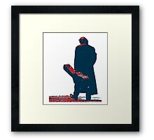 hope art the man walking with his guitar Framed Print