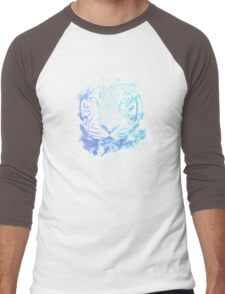 Abstract Watercolor Tiger Portrait / Face Men's Baseball ¾ T-Shirt