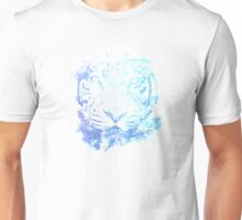 Abstract Watercolor Tiger Portrait / Face Unisex T-Shirt