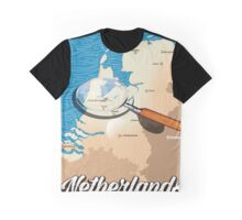 Netherlands vintage map vacation poster. Graphic T-Shirt
