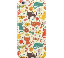So many cats! Cute pattern! iPhone Case/Skin