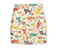 So many cats! Cute pattern! Mini Skirt