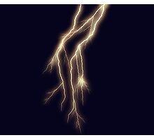 Lightning Bolt on Indigo Photographic Print