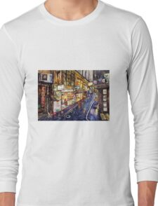 Rainy Melbourne Long Sleeve T-Shirt