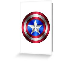 Captain America Shield 2 Greeting Card