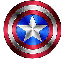 Captain America Shield 2 Photographic Print