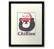 no chill bear Framed Print