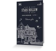 Stars Hollow Collage Greeting Card