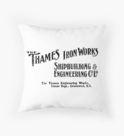 Thames Ironworks Throw Pillow