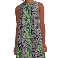 Nightime Abstract A-Line Dress